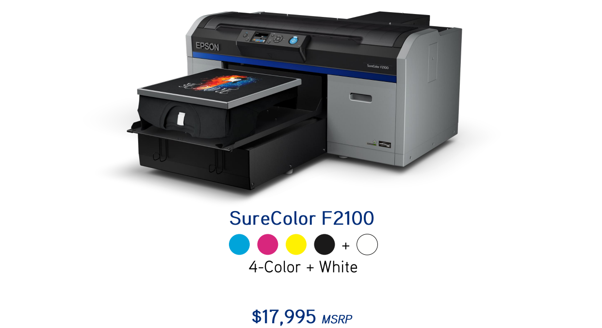 Epson surecolor f2100 w dtg direct to garment printer for for Epson t shirt printer