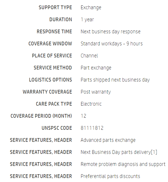 HP 1 year Post Warranty Channel Parts and Remote for Designjet Latex 360  64in Hardware Support