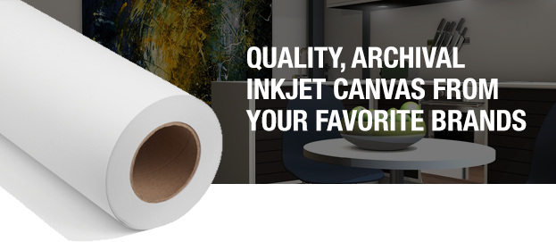 inkjet canvas media from epson canon hp hahnemuhle canson